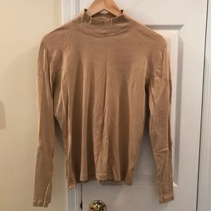 Tan mock neck long sleeve